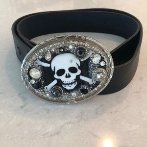 Accessories - Skull Leather Belt